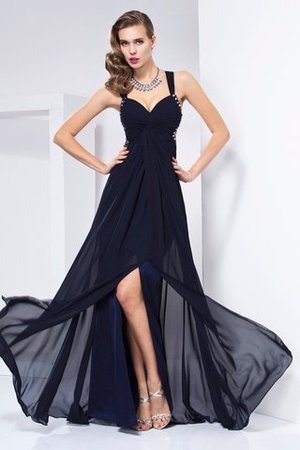 Chiffon Floor Length Long A-Line Evening Dress