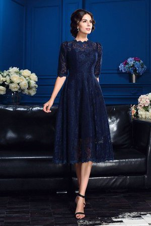 A-Line Zipper Up Knee Length Lace Mother Of The Bride Dress