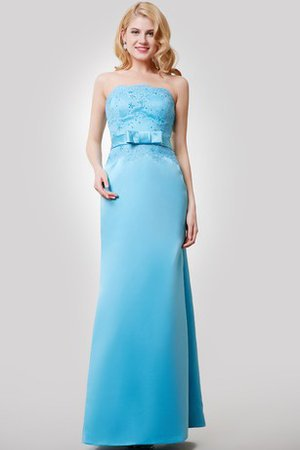 Sheath Floor Length Sashes Sexy Strapless Bridesmaid Dress