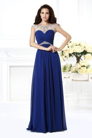 Long Bateau Floor Length Sleeveless Princess Evening Dress