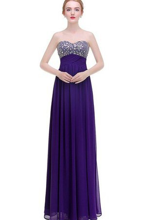 Sweetheart A-Line Floor Length V-Neck Empire Waist Prom Dress