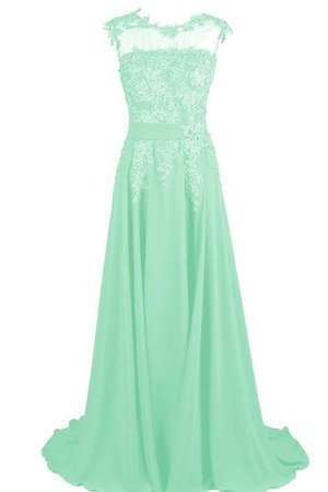 Short Sleeves Beading Simple Bateau Sweep Train Prom Dress