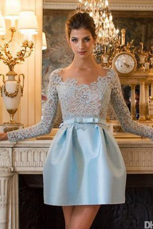 Long Sleeves Short Pleated Tulle Ruched Homecoming Dress