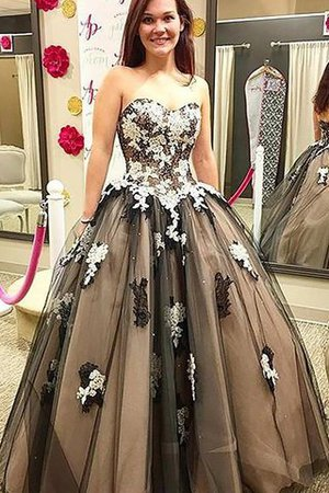 Empire Waist Tulle Sweetheart Sleeveless Appliques Evening Dress