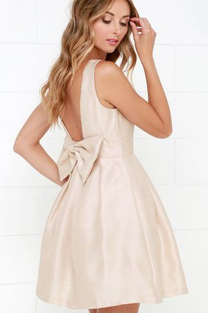 Gorgeous Short Sleeveless Honorable Bow Party Dress