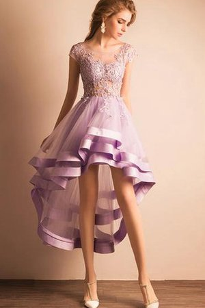 Pleated Tulle Chic & Modern Ruffles Lace Fabric Party Dress