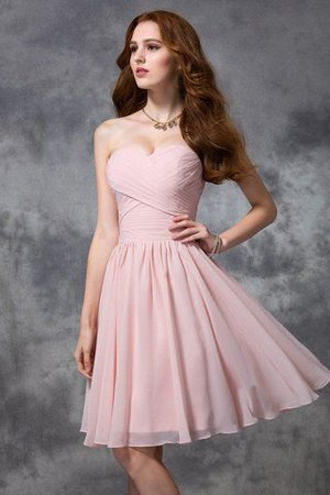 Natural Waist Knee Length Princess Ruched Zipper Up Bridesmaid Dress