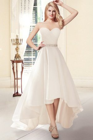 Simple Button Lace Sleeveless Romantic Wedding Dress