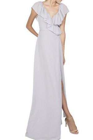 Floor Length Chiffon A-Line Draped Bridesmaid Dress