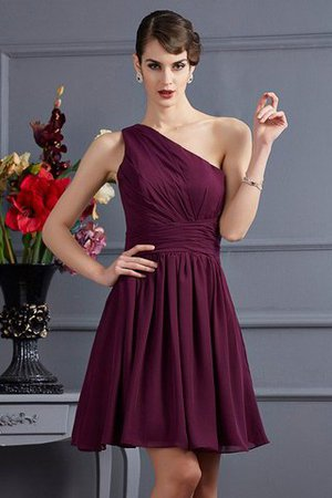 Draped Princess Chiffon One Shoulder Bridesmaid Dress