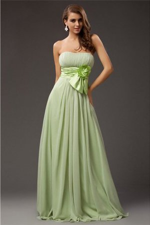 Elastic Woven Satin Chiffon Floor Length Sheath Long Bridesmaid Dress