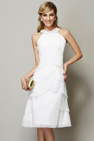 Knee Length Sheath Bateau Natural Waist Beading Bridesmaid Dress