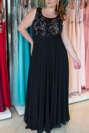Wide Straps Natural Waist Sleeveless Plus Size Prom Dress