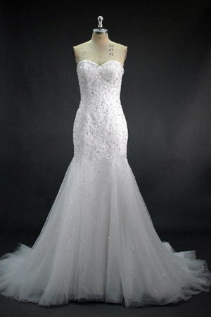 Natural Waist Lace Lace-up Sequined Mermaid Wedding Dress