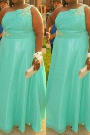 Floor Length Princess Natural Waist Sleeveless Plus Size Prom Dress