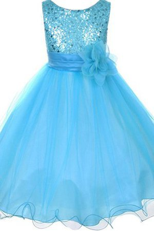 Scoop Zipper Up Empire Waist A-Line Organza Flower Girl Dress