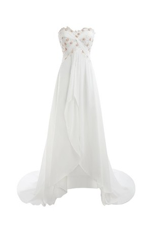 Romantic Zipper Up Floor Length Vintage Exclusive Wedding Dress