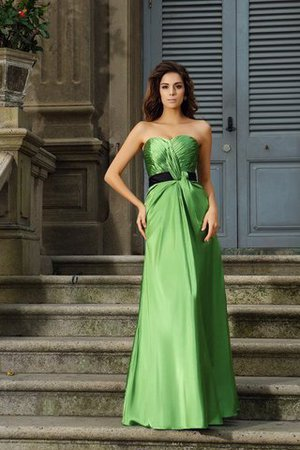 Silk Like Satin Floor Length Long Zipper Up Princess Bridesmaid Dress