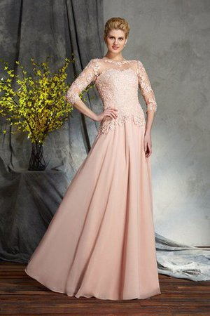 A-Line Chiffon Natural Waist Long Mother Of The Bride Dress