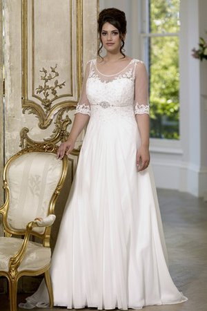 Plus Size Chic & Modern Beading Informal & Casual Ruched Wedding Dress