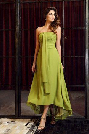 A-Line Zipper Up Empire Waist Chiffon Bridesmaid Dress