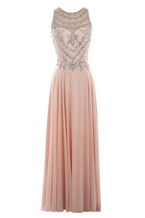 Sleeveless Sheath Chic & Modern Demure See Through Evening Dress