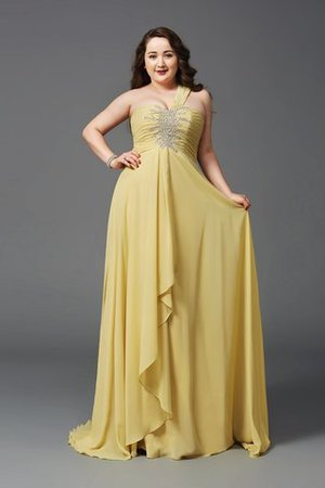 Long Empire Waist Sweep Train A-Line Prom Dress