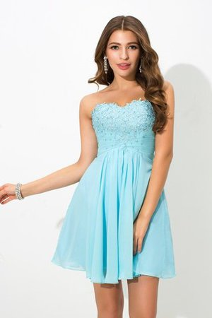 Princess Short Natural Waist Beading Sleeveless Cocktail Dress