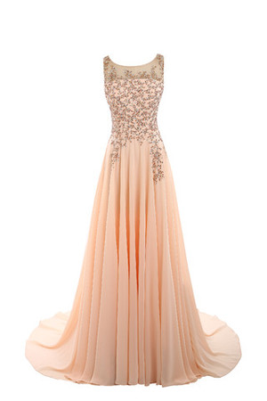 Exclusive Tulle Floor Length Hall Art Silk Evening Dress