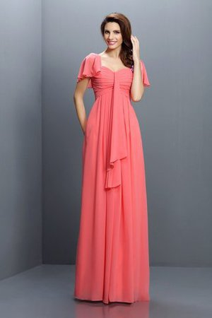 Empire Waist Sleeveless Draped Chiffon Bridesmaid Dress