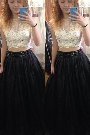 Natural Waist Floor Length Tulle Sleeveless Princess Prom Dress
