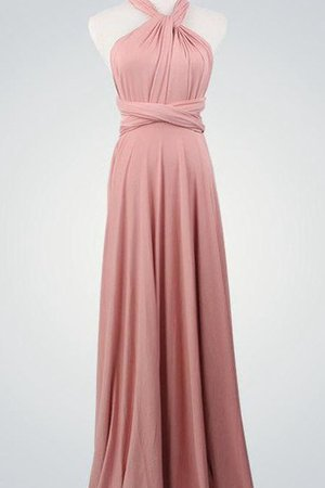 Ruched A-Line Simple Halter Vintage Bridesmaid Dress