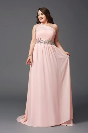 Empire Waist Plus Size Zipper Up A-Line Prom Dress