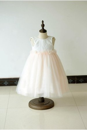 Sleeveless Empire Waist A-Line Long Flower Girl Dress