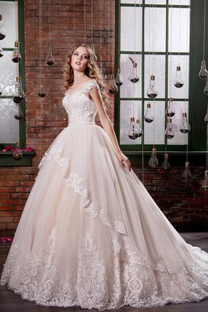 Long Ball Gown Tulle Tiered Elegant & Luxurious Wedding Dress