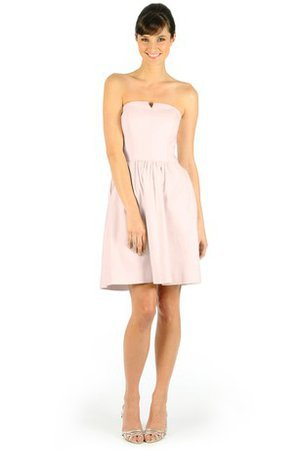 Simple A-Line Notched Short Strapless Party Dress