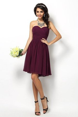 Princess Sleeveless Zipper Up Sweetheart Chiffon Bridesmaid Dress