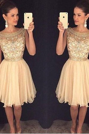 Scoop Natural Waist Sleeveless A-Line Homecoming Dress