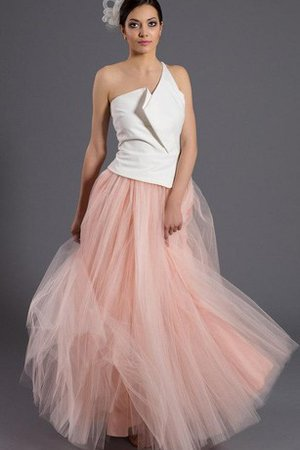 Pleated Lace Chic & Modern Split Front Tulle Bridesmaid Dress