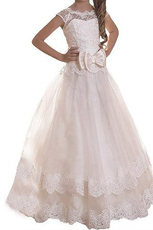 Floor Length Sashes Natural Waist Tulle Flower Girl Dress
