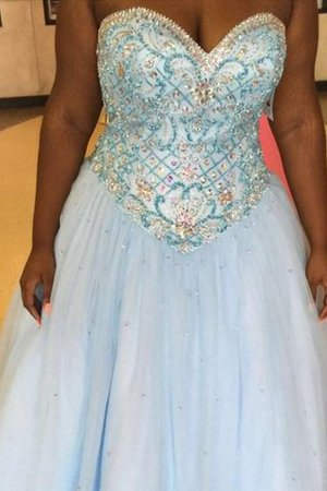 Floor Length Plus Size Ball Gown Tulle Natural Waist Prom Dress