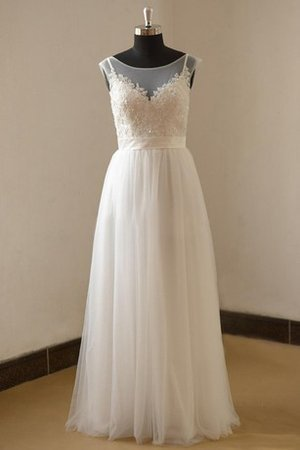 Capped Sleeves Sashes Natural Waist Tulle Wedding Dress