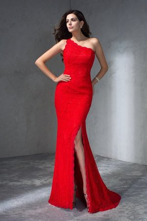 Long Sweep Train Sleeveless Mermaid One Shoulder Evening Dress
