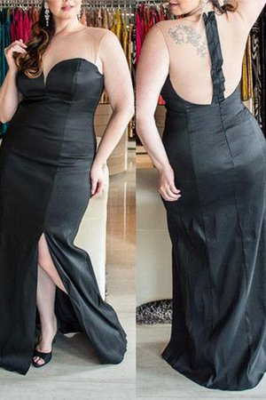 Natural Waist Zipper Up Sweetheart Sleeveless Plus Size Prom Dress