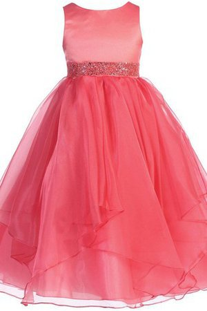 Ball Gown Zipper Up Satin Tulle Bow Flower Girl Dress