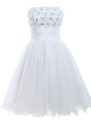 Multi Layer Beading Outdoor Sleeveless Long Wedding Dress