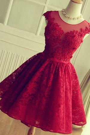 Ruffles Keyhole Back Simple Informal & Casual Lace Fabric Homecoming Dress