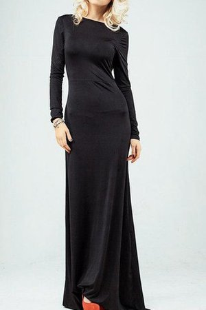 Long Sheath Floor Length Dropped Waist Mother Of The Bride Dress