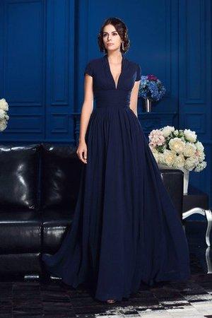 b211ba37fd Empire Waist Chiffon Long Floor Length V-Neck Mother Of The Bride Dress