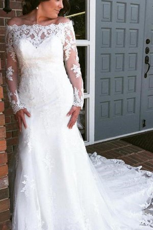 Junoesque Romantic Church Embroidery Off The Shoulder Outdoor Button Wedding Dress